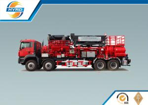 China Red Fracturing Pump Truck Oilfield Vehicles Model SYL3000-140Q on sale