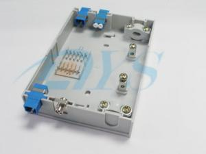China FTTH Custom Fiber Optic Terminal Box With SC / UPC SM Adapter For Indoor / Outdoor on sale