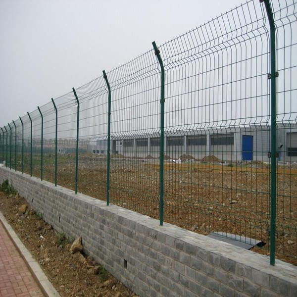 PVC coated wire mesh for fence panel for sale – double edge wire ...