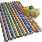 30inch x 120inch  80gsm coated paper custom printed floral gift wrapping paper