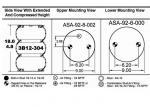 3B12-304 Original Air Spring Triple Convoluted Flexmember 578-93-3-100