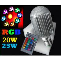 High Power Colorful remote control bulb 20w 25w E27 led rgb bulb multicolour