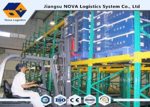 China Powder Coated Shuttle Pallet Racking FIFO Storage For Assembly Lines on sale