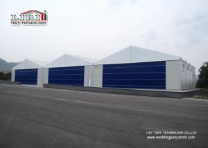 China White Color Permanent Relocatable Aircraft Hangars 25 X 50 Side Hard Wall on sale