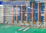 Automated storage and retrieval system, AS/RS, passage stacker crane
