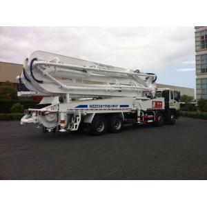 China 47m Concrete Pump Trucks 8x4 / Cement Pumping Equipment With Cooling system on sale