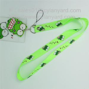 China Printed polyester id card holder lanyard with printed plastic pocket on sale