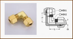 China ASTM B16, ASTM B124 Yellow 90 Degree Elbow Brass Pipe Fitting / Brass Hose Barb Fittings on sale