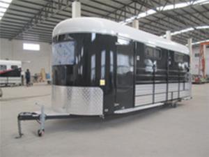 China Camper trailer China,3 horse camper,custom trailer as personal design on sale