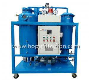China HOPU Vacuum Hydraulic Turbine Oil Filtration  Used Oil Recycling Oil Purifier machine for filtrate impurities and Dehydr on sale