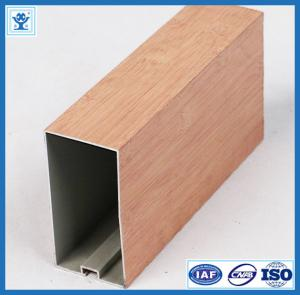China Wood finish aluminum powder coated profile for architectural aluminium profile on sale