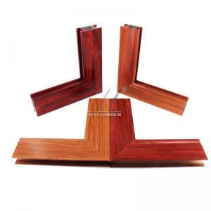 China 6063 Aluminium Extrusion Profile    Good Performance Thermal Break Wood grain Aluminium Casement Door Profile on sale