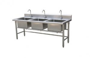 ... Quality Single / Double / Triple Bowl Commercial Stainless Steel Sinks  For Cold / Freezing Room