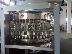 China 40 Filling Head Rotary Bottle Filling Machine , PET / Glass Bottle Production Line on sale