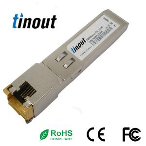China RJ45 100m SFP Optical Transceiver 1.25Gb/s For 1000BASE COPPER TX Ethernet on sale