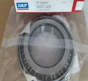 China Original SKF Bearing 30217 J2/Q X/Q R Chrome Steel Electric Machinery 80x150x31 mm Tapered Roller SKF 30217 Bearing on sale