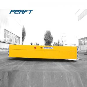 China Yellow Customized Automated Motorized Battery Transfer Cart Carrier Flat Car on sale