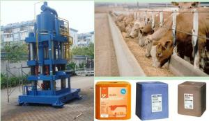 China Fully Automatic 20kg Cow / Horse Salt Licking Block Making Machine, Hydraulic Tablet Press on sale