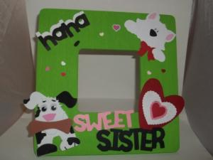 China 2015 Customized hand made kids Wood Picture Frame/ wooden photo frame on sale