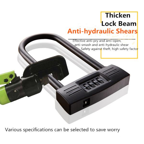 Bicycle Security Digits Number Cable Password Coded Lock Anti-Theft H