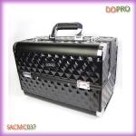 Double opened whole black ABS makeup vanity cases (SACMC037)