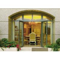 Insulated Glass Aluminium Casement Door Waterproof With Grill CCC , ISO 9001
