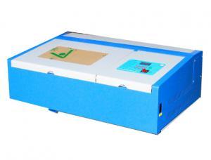 China 3020 CNC 40w CO2 Mini Laser Engraving Machine , Tabletop Laser Engraver on sale