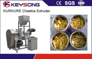 China Cheetos /  Kurkure Making Machine , 380v / 50hz Twin Screw Extruder Food Snacks Machine on sale
