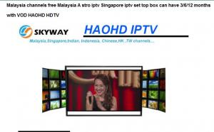 Quality Malaysia channels free Malaysia A stro iptv Singapore iptv set top box can have for sale