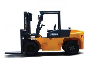 China ISUZU Hydraulic Material Handler 6 Ton Diesel Forklift 6000kg Base Capacity on sale