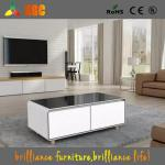 2017 New Arrivals Square Smart Coffee Table with a Built-in Fridge and Bluetooth Speakers