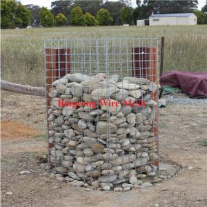 China Galvanized gabion basket retaining wall welded gabion box on sale