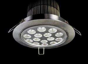 China Cold White 18W 5500 - 6000K PMMA / PC Downlight LED Ceiling Fixtures With Φ145 * H130mm on sale