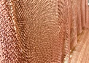 China Concert Halls Drapery Copper Ring Mesh Chainmail Type 1mm Dia 8mm Aperture on sale