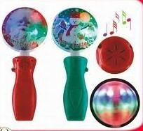 China Promotional Flashing color LED Cool Halloween Decorations spinning ball with 3*AAA battery on sale