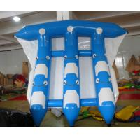 6 People Blue And White Or Blue And White Water Inflatable Flying Fish For Tied Behind The Boat Drift In The Water Play