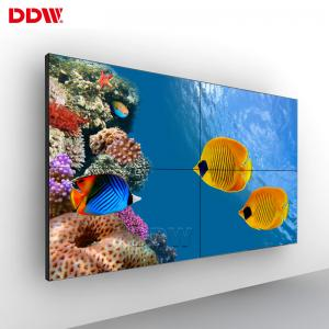 China Super Narrow Bezel LCD Video Wall Display 1920*1080 500 Nits LED Backlit 5.3 Mm on sale