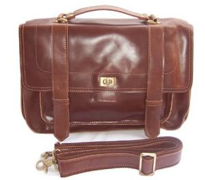 China Leather Men's Brown Briefcase Laptop Hand Bag Messenger Tote on sale