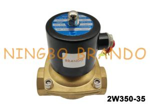 China 2/2 Way NC 1-1/4 Inch Direct Acting AC220V Brass Body Water Treatment UW-35 Uni-D Type 2W350-35 on sale