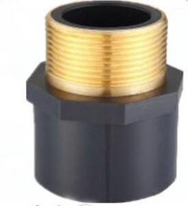 China black sch 80 brass male thread insert coupling on sale