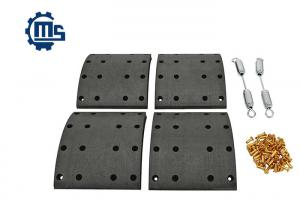China Axle Drum Brake Shoe Relining Kit , Truck Brake Components 1535249 1535253 on sale
