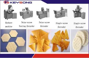 China Puff Snacks Doritos Making Machine / Corn Flakes Processing Line Steady Performance on sale
