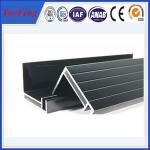 fournissez l'extrusion en aluminium d'angle, panneaux solaires de haute qualité soutenant le profil d'aluminium de tige