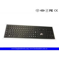 Industrial Electroplated Black Metal Keyboard With Full Keys, Trackball and Backlight