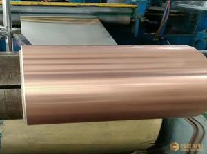 China Copper Aluminum Composite Strip , Decoration Flat Copper Sheets High Strength on sale