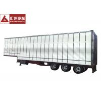 China Easy Operation Curtainsider Semi Trailer , Curtain Van Trailer Double Side Channel on sale