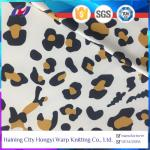 Leopard Print Sun Protective Wicking Moisture Property Polyester Spandex Sports Fabric