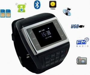 China dual sim wrist watch mobile phone with numberic keyboard and compass functions VE77 on sale