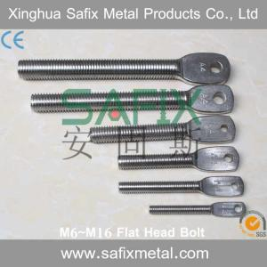 China 304 316 Stainless Steel Extension Arm M6 M8 M10 M12 M16 Flat Head Bolt For Stone Cladding Fixings on sale
