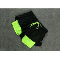 China Anti Emptied Womens Fitness Shorts 2 In 1 Polyester Training Tight Shorts on sale